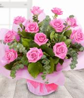 4617 - 12 Pink Roses