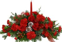 2754 - Christmas Floral Centerpiece