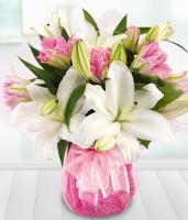 5697 - Pink and White Lilies