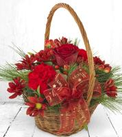 2800 - Christmas Flower Basket